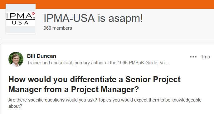 IPMA-USA LinkedIn Group